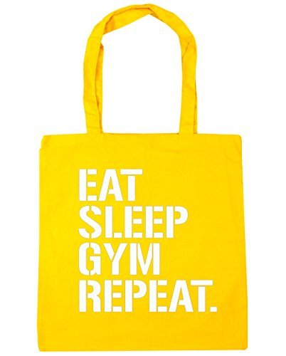 hippowarehouse-eat-sleep-gym-repeat-tote-einkaufstasche-gym-beach-bag-42-cm-38-38-10-liter-gr-einhei