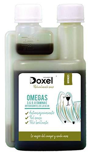 Doxel Senior - 250 ml | Öl für Hunde | Nahrungsergänzungsmittel | Entzündungshemmend | Anti-Aging | Gesunde Gelenke | Immunsystem | Omega 3 6 9-Fettsäuren | Vitamin E | Muskelmasse | Ältere Hunde