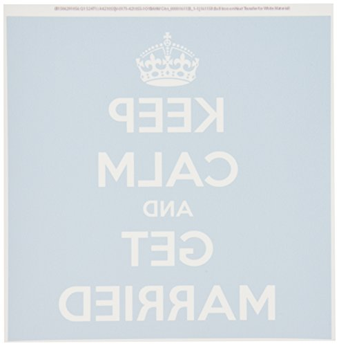 3dRose HT 161158_ 1Keep Calm and Get Married. Licht Blue-Iron auf Wärme Transfer Papier Für weiß Material, 820,3cm -