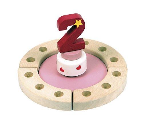 Niermann Standby 9018 - Happy-Spieluhr Mini mit Festring, D=19 cm, Happy Birthday Melodie, Spieluhr zum aufziehen, ohne Deko, kombinierbar mit allen Niermann Standby Ergänzungssets, rosa