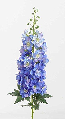 artplants Set 2 x Künstlicher Rittersporn RIKKE, blau-weiß, 95 cm, Ø 15 cm - Kunstblumen/Deko Blumen