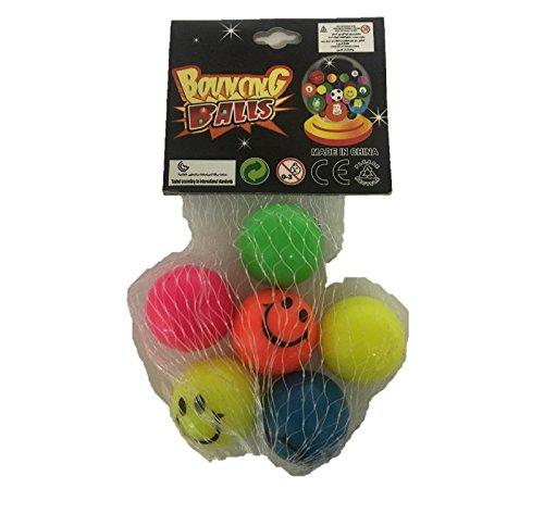 Fun Toys 10390 - 6 Jumping Balls, Bouncy Balls, Smiley Face Preisvergleich