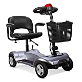 LLPDD Mobility Scooter, tragbare Falten Mobility Scooter - 4-Rad-Elektro-Scooter für Erwachsene/Ältere Mobilitäts-Roller für Erwachsene und Old Man -