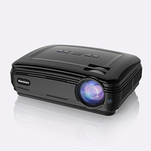 """Excelvan BL59 - Proyector LED 1080P (Sistema Android 6.0, 3200 Lúmenes, WIFI,1280 x 768, Proyeccion 32"""" - 200"""", 4:3 16:9, 3000:1, Soporta Airplay, Miracast, Ordenador, Duplica Pantalla, Altavoz) (Negro)"""