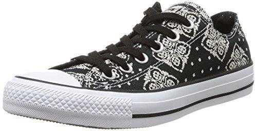 Converse - Chuck Taylor Bandana Prt, Sneaker da donna Nero (Noir)