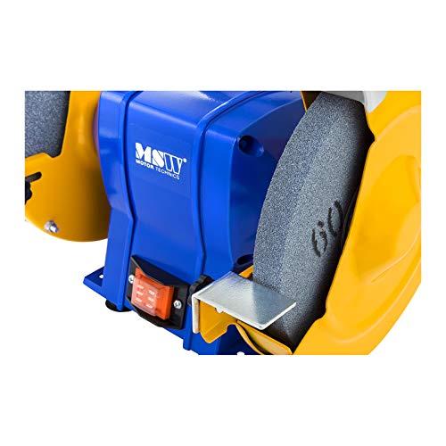 MSW Smerigliatrice combinata da banco Smerigliatrice da banco GRIN350D (Ghisa, 350 W, Diametro mola 200 mm, 2950 rpm)