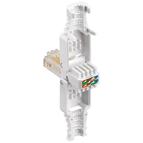 erenLine 10 Stück Netzwerk-Stecker RJ45; werkzeugfreie, einfache Montage; für Cat6, Cat6a und Cat5e Patchkabel;für flexible und starre Innenleiter (Patchkabel, Verlegekabel); [LAN Stecker, Patchstecker, Modularstecker]