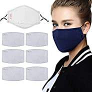 Zoylink Mouth Mask Cotton Washable PM 2.5 Filter Mask Face Mouth Cover with 6 Filter Pad