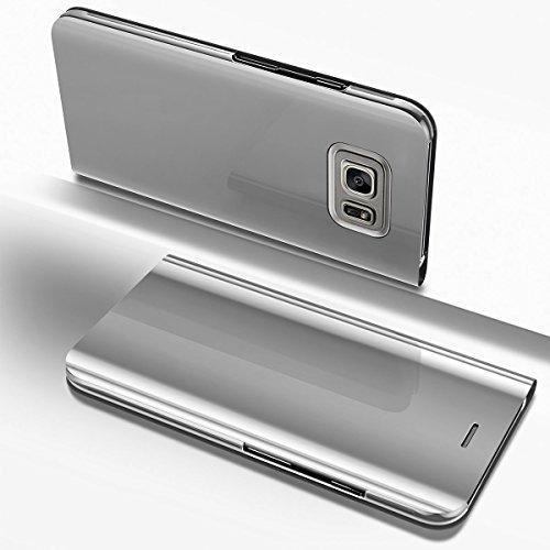 fda1bb0975c COTDINFOR Samsung S7 Funda Espejo Ultra Slim Ligero Flip Funda Clear View  Standing Cover Mirror PC
