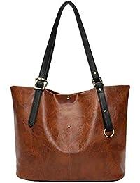 leap-G handtasche damen, umhängetasche damen, Canvas Schultertasche Shopper Tasche Groß Casual Strandtasche Einkaufstasche College Tasche für Studenten