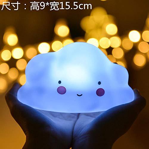 Kinderspielzeug Mond Sterne Einhorn Nachtlicht leuchtende Schlafzimmer Nacht Geschenk Dekoration Geburtstagsfeier @ Blue Clouds -