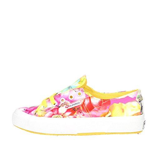 Le Superga - 2750-fabricfanplw EsoticFlow Yelw-Pink