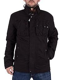G-Star Hombre Ospak acolchada chaqueta Logo, Negro