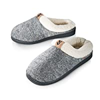 Pupeez Girls Cozy Warm Sweater Knitted Slipper; A Luxury Style Kids House Shoe with Rubber Sole Grey, Grey, 3-4 UK Big Kids