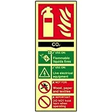 Scan 1592 - Cartel indicador de extintor CO2 PHO (75 x 200mm)