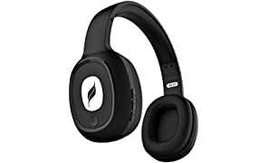 Leaf Bass Wireless Bluetooth Headphones with Hi-Fi Mic and 10 Hours Battery Life, Over Ear Headphones with Super Soft Cushions and Deep Bass (Carbon Black)