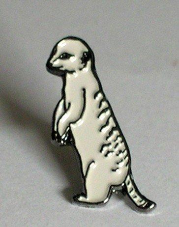 Image of Metal Enamel Pin Badge Brooch Meerkat