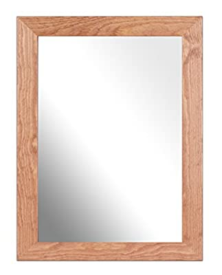 Inov8 10 x 8-inch British Made Traditional Real Wood Mirror, Pack of 1, Kayla Black