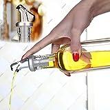 Shobdw, erogatore di Olio d'oliva per liquori e Vino, Tappo a Scatto per Utensili da Cucina, Bottiglia di Olio a Prova di perdite, ugello per Cucina, Ristorante e Bar, Bianco, 1PC