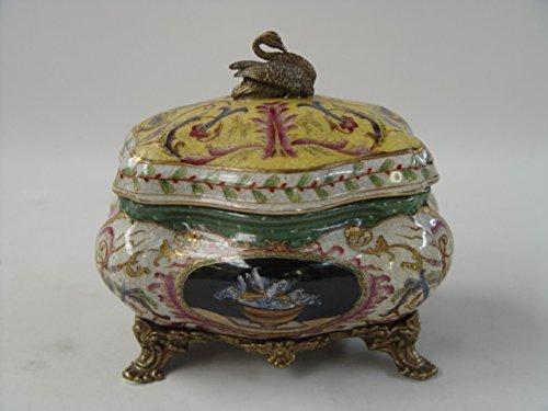 Porcelaine boîte décorée boîte poitrine Schmuckkiste