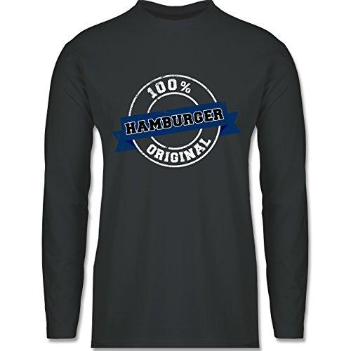 Länder - Hamburger Original - Longsleeve / langärmeliges T-Shirt für Herren Anthrazit