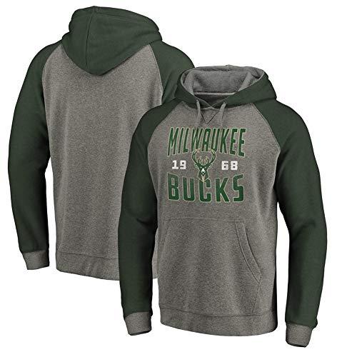 Milwaukee Kostüm - HS-HUWENHUI Basketball League/Milwaukee Bucks History Pullover Für Kapuzenpullover Mit Praktischem Kängurutaschen-Fan-Kostüm,XXL180~185CM