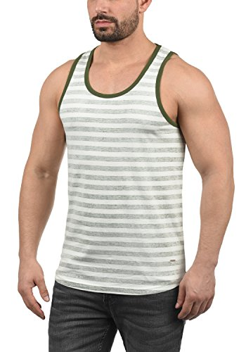 Indicode Renzo Herren Tank Top mit Rundhalsausschnitt aus 100% Baumwolle Regular Fit, Größe:M, Farbe:Army (600)