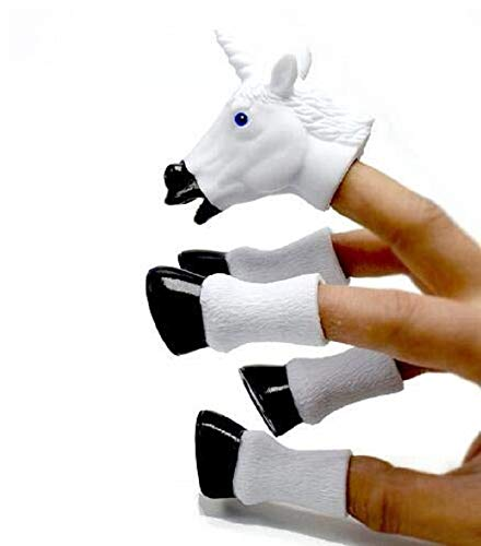 CONNECTWIDE® Handicorn, A Five-Piece Finger Puppet Set That Transforms Your Hand Into a Majestic Unicorn