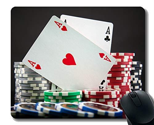 Gaming Mouse Mat, Pokerkarte Gummi-Mousepad genähte ()