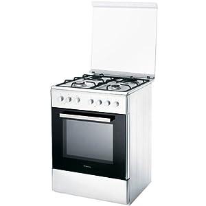 Candy CCG6503PW Independiente Encimera de gas A Blanco – Cocina (Cocina independiente, Blanco, Giratorio, Parte superior delantera, Encimera de gas, esmalte de acero)