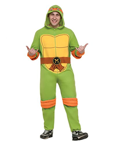 gelo Turtles Kostüm-Overall mit Kapuze XL (Der Orange Ninja Turtle Kostüm)