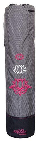 Yogatasche Tashev Lotus Yogamattentasche Yoga-Bag Pink & Weiß