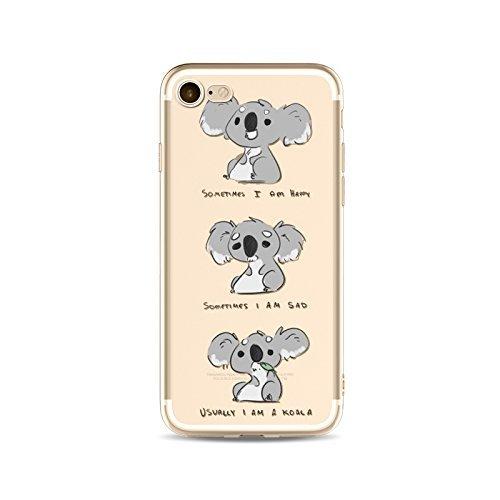Coque iPhone 6 Plus 6s Plus Housse étui-Case Transparent Liquid Crystal en TPU Silicone Clair,Protection Ultra Mince Premium,Coque Prime pour iPhone 6 Plus 6s Plus-Koala-style 3 8