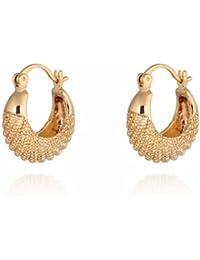 Yazilind 14K Encanto Gold Filled Diseño Pendientes de aro Smal simples para Idea regalo de las mujeres