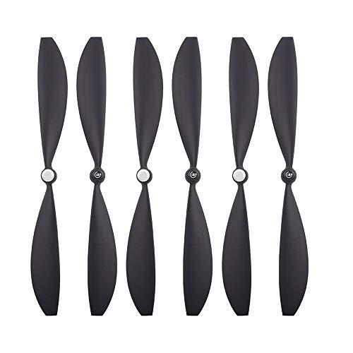 Tianya - 6Pcs Drone Propellers Blades Wings Zubehör Teile Für Gopro Karma Black ()