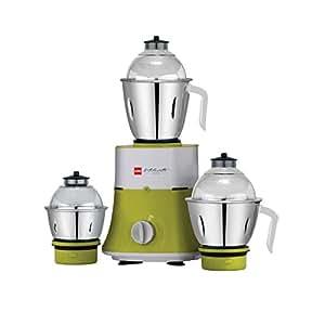Cello Grind-N-Mix 700 750-Watt Mixer Grinder with 3 jars (Green)