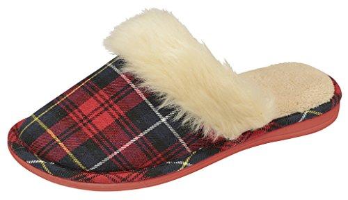 Dunlop , Damen Hausschuhe Rot