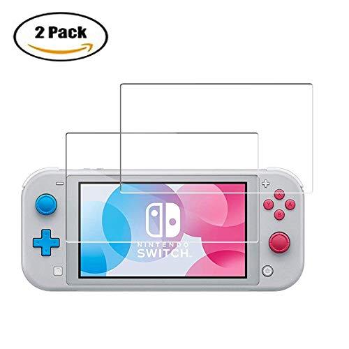 PZEMIN Displayschutz für Nintendo Switch Lite, HD Glasfolie Transparent Displayschutzfolien Kratzfest Gehärteter Glasfilm Membran (2 Stück Schutzfolien) Da-lite-switch