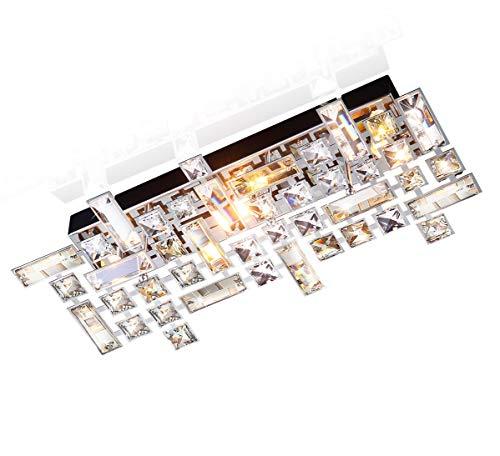 Led cristallo vetro lampadario design plafoniera led lampadari soffitto bagno derant luce lampada da parete 43x20cm 3x g9 presa incl. led lampadini.