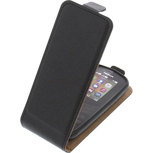 Tasche für Nokia 130 (2017) Smartphone Flipstyle Schutz Hülle schwarz