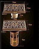 BEI-YI Bodenablauf Alte Kupferschmiede Bodenablauf Kupfer Deodorant Bodenablauf Antik Geschnitzter Bodenablauf (Stil : B)