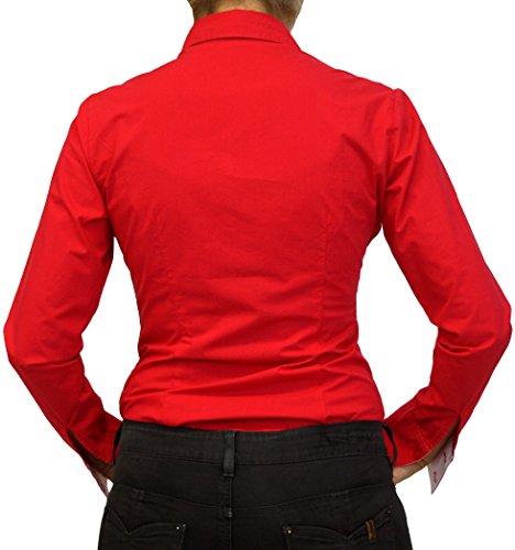 Perano 102-13 Damen Bodys Blusen Bodybluse Blusenbody Rot