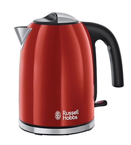 Russell Hobbs 20412-70 Wasserkocher Colours Plus+ Flame Red, 2400 Watt, 1.7l, Schnellkochfunktion, rot
