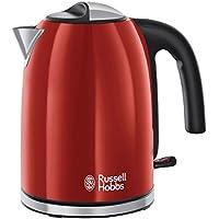 Russell Hobbs 20412-70 - Hervidor de agua flame, 1,7 L, filtro extraíble y lavable, 2400 W, color rojo