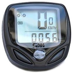 Sodial(tm) Wireless Bike Computer Speedo Odometer Average Speed Maximum Speed Cycle Bicycle