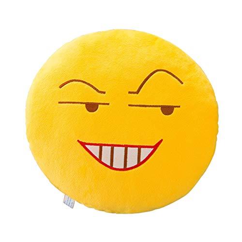ABsoar Kissenbezuge Runde Weicher Ausdruck Smiley Emoticon Plüsch Spielzeug Puppe Kissenbezug Für Autos Sofakissen Startseite Dekorative,32cm