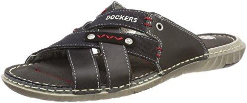 Dockers by Gerli Herren 38SD006-600100 Römersandalen, (Schwarz 100), 43 EU