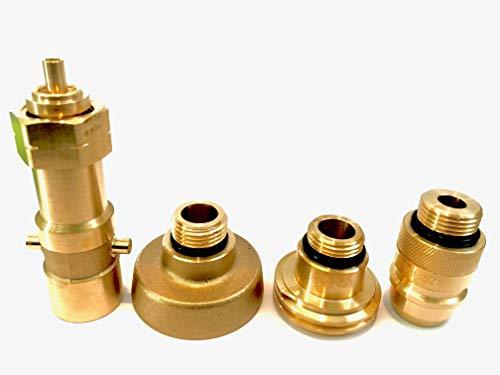 Preisvergleich Produktbild Tankadapter Set zum Befüllen von Gasflaschen Propangas LPG Campingflaschen mit 22mm Linksgewinde Acme Dish Bajonett EURONOZZLE