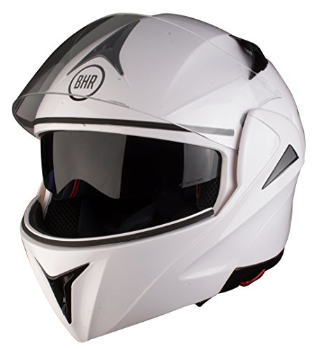 Bhr 50139 casco modulare flip-up, taglia m, bianco, 705 energy