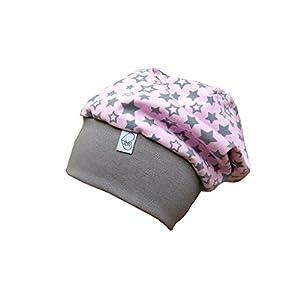 Beanie Mütze rosa mit Sternen Babymütze